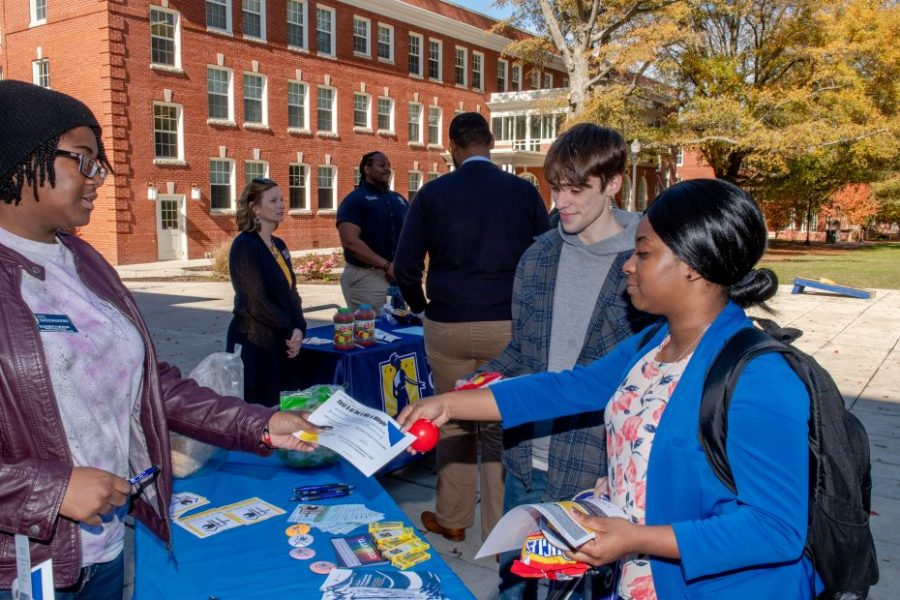 First Gen (Generation at UNCG) event on the Quad